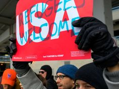 Protests Of President Trump's Refugee Ban Break Out At Airports Across America  http://www.refinery29.com/2017/01/138304/trump-muslim-ban-protest-refugee-detainment-airports-jfk?utm_source=feed&utm_medium=rss