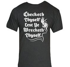 Checketh Thyself T-Shirt-Funny Humorous Novelty Shirt-Large-Black Delta http://www.amazon.com/dp/B017AD4D6Q/ref=cm_sw_r_pi_dp_Ydnvwb15HWV3D #mensshirts #funnyshirts #menswear #mensclothing