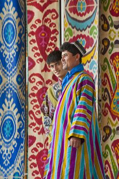 Uzbekistan's Fergana Valley is rightly famous for its ikat fabrics – which require infinite skill and patience of its practitioners. Because of its strong links to the past, and the independent, artistic nature of the process, ikat was suppressed in the Soviet era. Current masters (usto in Uzbek) learned from their fathers and grandfathers, who tied and died their complex warp patterns in secret.