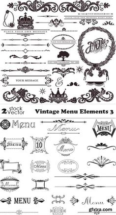 Vectors - Vintage Menu Elements 3