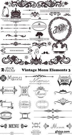 Vectors - Vintage Menu Elements 3