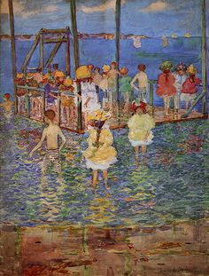 Children on a Raft | Maurice Prendergast | oil painting