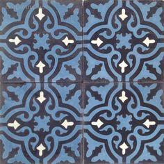 Cement Tile Shop - Encaustic Cement Tile Blue Neiba