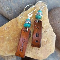 Check out this item in my Etsy shop https://www.etsy.com/listing/542820835/leather-earrings-arrows-turquoise-and