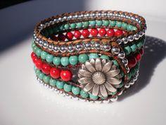 Flower Jewelry Turquoise Jewelry Southwestern Jewelry by RopesofPearls on Etsy https://www.etsy.com/listing/95617281/flower-jewelry-turquoise-jewelry
