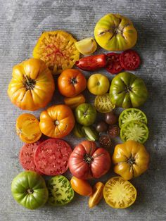 Heirloom tomatoes - look at that color!