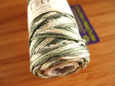 Hemp Cord - Variegated Camouflage - #20 20lb / 1mm cord Hemptique - Five (5) Metres - Jewellery Stringing Knotting Cord Thong  by LoveEllieBagMaking Find it now at http://ift.tt/2aDyqIj!