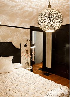 moroccan light done right. so dreamy for a bedroom.