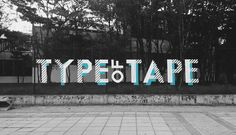 Typographical Interventions - TapeArt on Fences