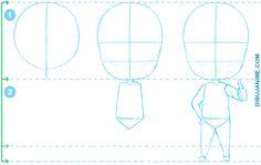 Como dibujar Chibis anime (Mujer y Hombre) Tutorial Paso a paso   Dibujanime!