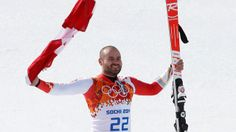 Sochi - Canadian Jan Hudec Bronze Medal: Just taking every risk possible including planting a 'lucky Loony' at the finish line :-)