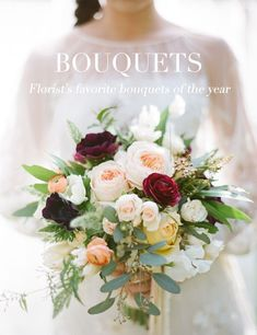 organic bouquet by Peony and Plum, photo by Stephanie Williams Photography