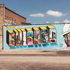 Greetings & salutations!  #chicago #greetingstour #greetingsfromchicago #mural @greetingstour