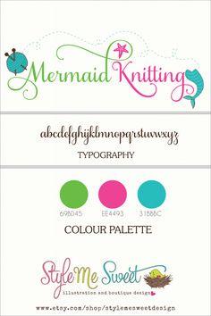 Custom Logo Design For Mermaid Knitting
