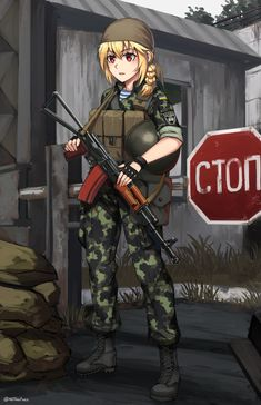 Safebooru is a anime and manga picture search engine, images are being updated hourly. Anime Military, Military Girl, Anime Girl Hot, Anime Art Girl, Fanarts Anime, Anime Characters, Guerra Anime, Ww Girl, Female Soldier