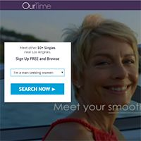 OurTime.com is an online dating site aiming at mature singles that are at  least