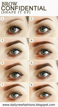 Brow Confidential / 8 Different Eyebrow Shapes