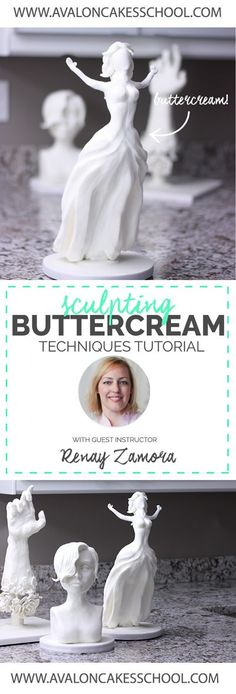 """Video Tutorial! Renay Zamora joins us for a an exclusive look into """"Sculpting Buttercream!"""" This isn't your typical buttercream, this buttercream feels like CLAY. The creative possibilities are endless! Click through to see more about this tutorial!"""