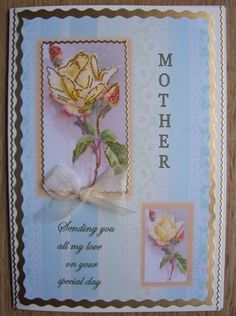 Beautiful Mothers Day Card by SACards on Etsy, £4.00