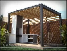 The pergola kits are the easiest and quickest way to build a garden pergola. There are lots of do it yourself pergola kits available to you so that anyone could easily put them together to construct a new structure at their backyard. Pool House, House, Home, Outdoor Rooms, Modern House, Modern, Pergola Plans, Outdoor Kitchen