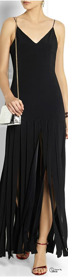 Kate Moss for Topshop SS 2014 ● Fringed  maxi dress