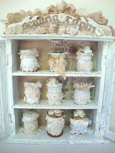ILuvVintageScrap: Sewing Room Cabinet - Vintage Shabby Chic