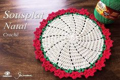 Bom dia! Aula de hoje no canal <3 Sousplat de Natal , vamos fazer? → https://youtu.be/WkXpvtFGuKg #crochet #professorasimone #semprecirculo #BarrocoMaxColorBrilho #BarrocoNatural