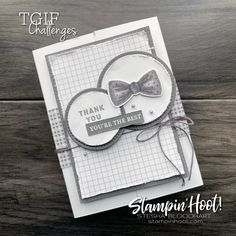 IMG#tgifc307 Sketch Challenge using Well Suited from Stampin' Up! Card by Stesha Bloodhart, Stampin' Hoot!_2093 Bone Folder, Specialty Paper, Basic Grey, Toot, Masculine Cards, You're Awesome, Scrapbook Pages, Stampin Up, Catalog