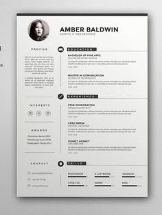 CV template with cover letter CV template MS Word Design Resume Design Template, Cv Template, Resume Templates, Visual Resume, Basic Resume, Simple Resume, Modern Resume, Conception Cv, Modelo Curriculum