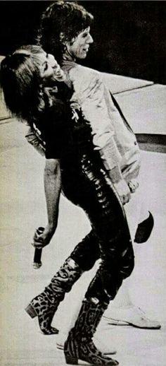 Tina Turner with Mick Jagger 1982