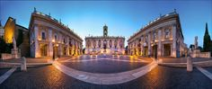 Are you planning a civil ceremony in Rome? Choose Palazzo del Campidoglio, the most elegant marriage hall for civil weddings in Rome, in a splendid square designed by Michelangelo. Rome Places To Visit, Must See Italy, Chateau Saint Ange, Voyage Rome, Rome Antique, Sites Touristiques, Civil Wedding, Italy Wedding, Travel