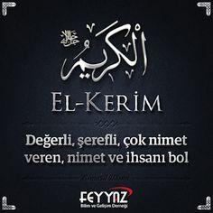 Cübbeli Ahmet Hoca: Esmaül Hüsna Resimli Türkçe Anlamları Islam Muslim, Allah Islam, Allah Names, Religion, Faith, Words, Antalya, Sky, Heaven