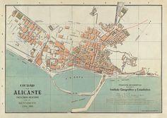 Map of Alicante, 1878