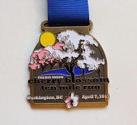 Credit Union Cherry Blossom ten mile run medal 2013