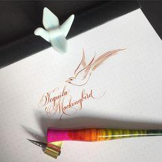 443 отметок «Нравится», 17 комментариев — Sue (@oliveleafcalli) в Instagram: «Witty cocktail names. I'm amused.  #calligraphy #calligraphysg #pointedpen #dippen #copperplate…»