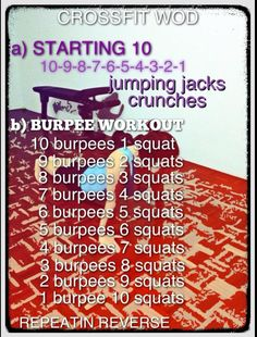 Killer burpees! #crossfit wod