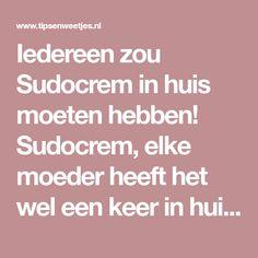 Iedereen zou Sudocrem in huis moeten hebben! Sudocrem, elke moeder heeft het wel een keer in huis gehad. Het 70 jaar oude merk is namelijk Remedies, Health, Van, Nice, Stuff Stuff, Flower, Ideas, Everything, Salud
