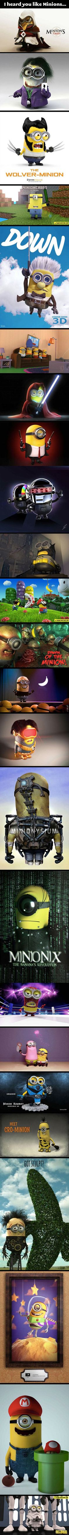 Here are some Minions as pop culture icons.