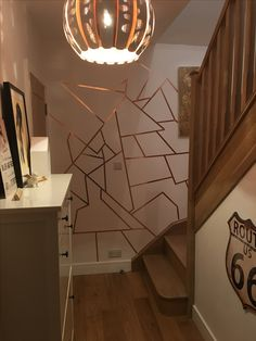 Frog tape + copper paint + navy paint = WOWZA!! Amazing ...