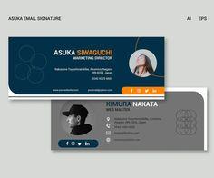 Asuka Email Signature Template AI, EPS