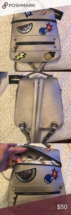 89bd1fbd33 Dream Control patchwork mini backpack NWT Dream control patch work mini  backpack. Pewter in color