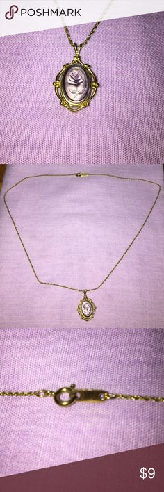 Rose necklace Chain is 18 in, worn a couple of times, no scratches or rust Jewelry Necklaces