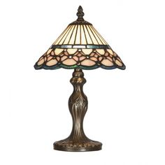 Oaks Lighting Aster Tiffany Glass Table Lamp In 3 Sizes