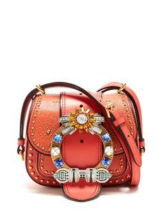 90e38c92d1d Miu Miu Dalia embellished leather cross-body bag Fashion Handbags