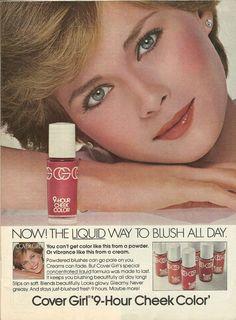 Old Ads Are Funny: 1978 ad: Cover Girl Cheek Color 1970s Makeup, Vintage Makeup Ads, Retro Makeup, Vintage Beauty, Vintage Ads, Disco Makeup, Vintage Vanity, Glam Makeup, Vintage Stuff