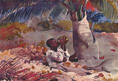 Under+the+coco+palm,+1898+-+Winslow+Homer