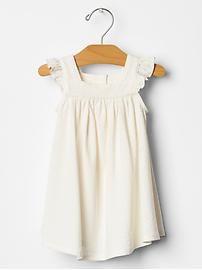 Organic pointelle flutter dress