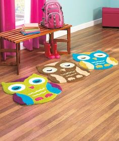 Adorable owl rugs, great price.