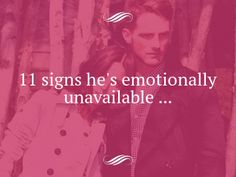 four signs emotionally unavailable