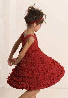 "Biscotti ""Frill Seeker"" Red Ruffled A-Line Dress"